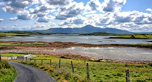 Clew Bay avec Croagh Patrick, Co. Mayo